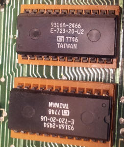 carte MPU EPROM à l'envers flipper bally eightball