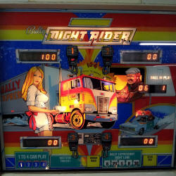 restauration flipper bally night rider
