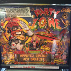 restauration flipper bally party zone