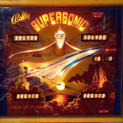 restauration flipper bally supersonic