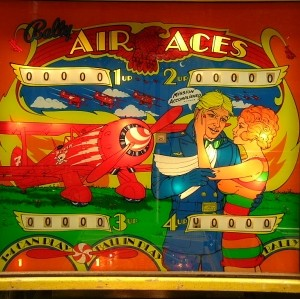 Fronton flipper Bally Air Aces