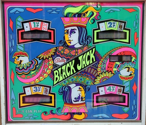 Flipper Bally Black Jack vitre