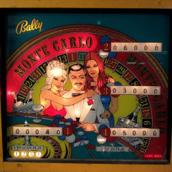 restauration flipper bally monte carlo